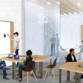 area di coworking per l'edificio della Nestlè