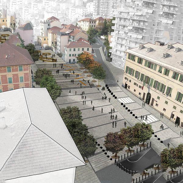 Sistemazione Piazza Marconi a Campomorone